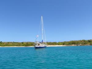 Anchored at Green Island