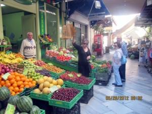 Market at Ermoupolis, Syros island