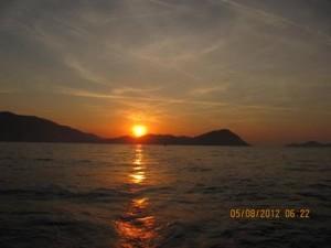 Sunrise over Symi as we headed towards Tilos01