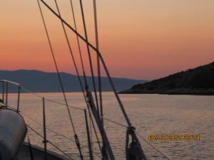 Sunset as seen from Voukari Kea